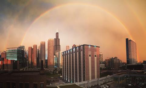 This was taken tonight from the West Loop after the thunderstorm. It reminded me that we can all find peace and beauty after a storm.
