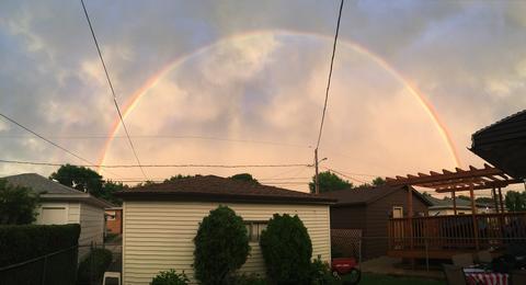 Rainbow after tonight's storm