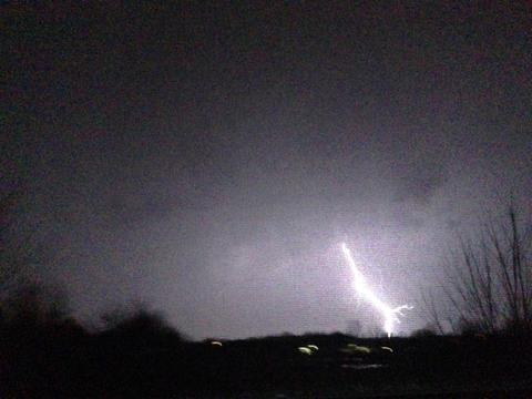Tuesday night thunderstorm in Frankfort IL