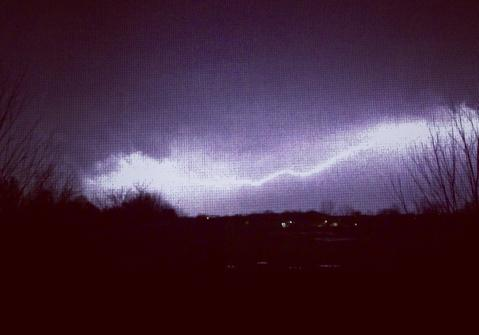 Tuesday night thunderstorm in Frankfort, IL