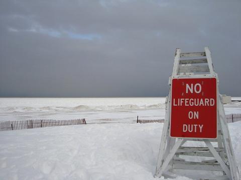 Shoreline Frozen