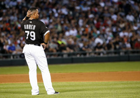 Jose Abreu looks to the field after sixth inning against the Orioles on Aug. 6, 2016.