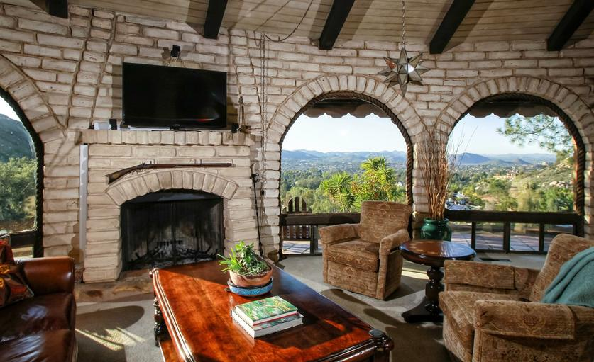 The Living Room And Panoramic Views From The Arched Windows Of The Larry  Weir Adobe Home, Now Owned By Don Laverty And Valerie McClelland.