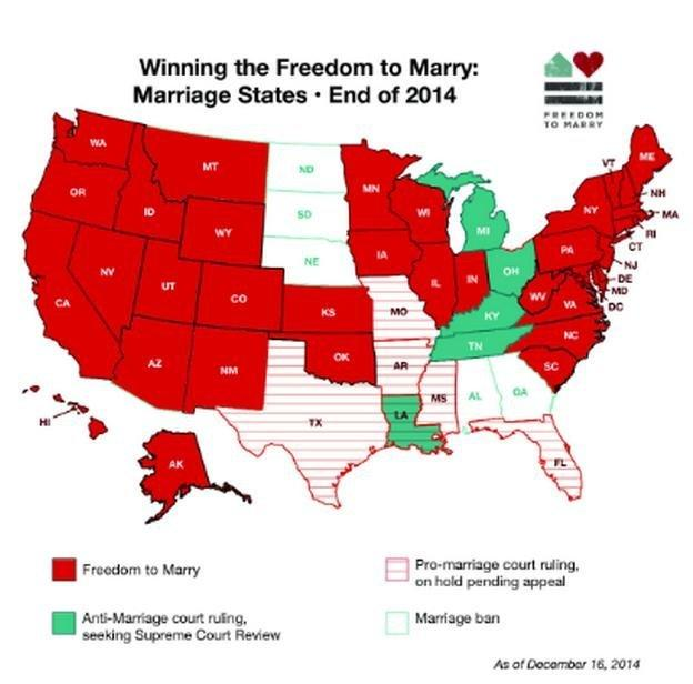 See The Amazing Progress Of Samesex Marriage In Two Maps The - Map of same sex marriage in the us