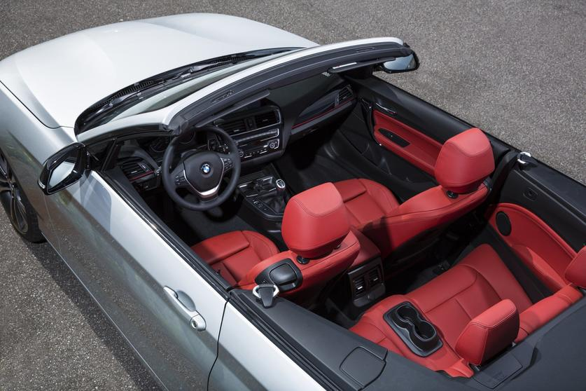 Thereu0027s Just Nothing Wrong With The Looks Of A Convertible In Glacier  Silver Metallic Paint With Red Leather Interior.