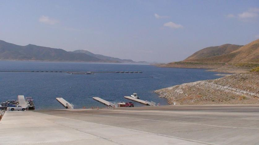 Drought stricken california issues water limits the san for Union valley reservoir fishing