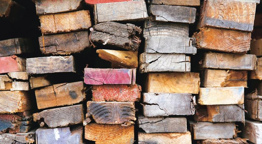 A stack of recycled lumber at Reclaimed Wood of San Diego. Nancee E. Lewis - Bringing Wood Back To Life - The San Diego Union-Tribune