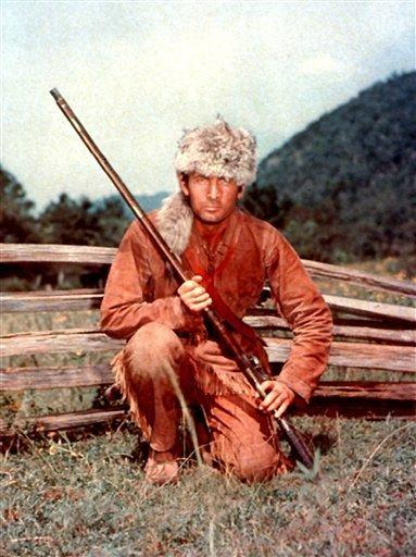 """In this undated image released by Disney, Fess Parker is shown Davy Crockett in Disney's, """"Davy Crockett."""" Family spokeswoman Sao Anash says Parker died ..."""