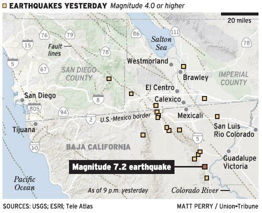 Magnitude 72 quake blamed in Baja deaths The San Diego UnionTribune