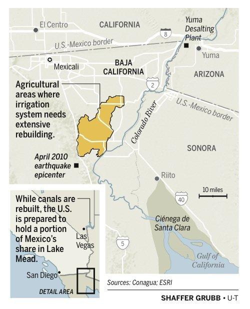 US Mexico Boost Collaboration On Colorado River The San Diego - Us map colorado river