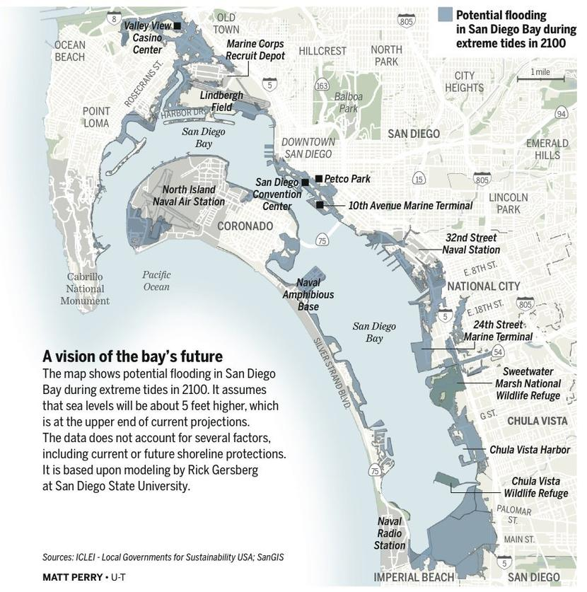 Extreme Tides Offer Look At Rising Sea Levels The San Diego Union