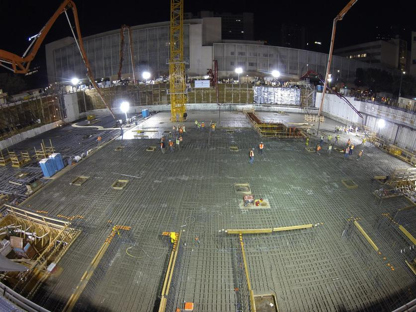 Concrete Rudolph concrete foundation goes in at 555 5 million state courthouse