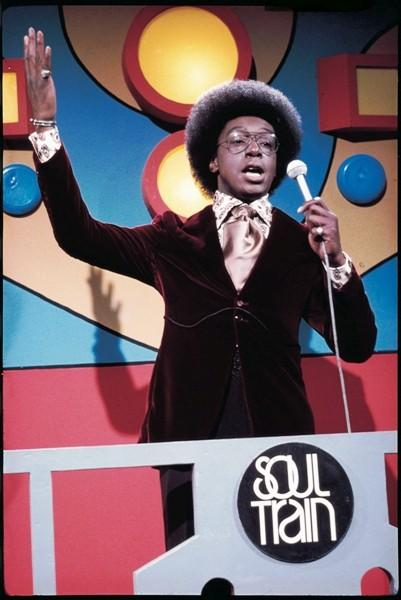 Host Don Cornelius in a photo from the the Soul Train Photo Exhibition.
