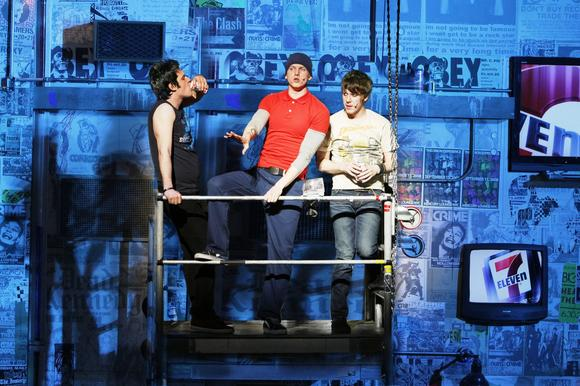 "Green Day's ""American Idiot"" on Broadway at the St. James Theatre."