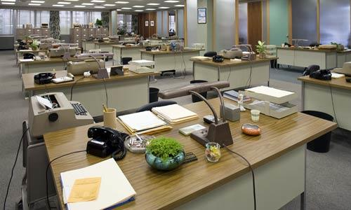 The layout of the old Sterling Cooper office reflected the rigid hierarchy of the American workplace of the 1950s. The women were corralled in the wide-open secretarial pool, while the men carried on as they pleased behind the closed doors.