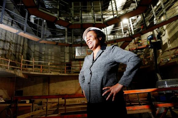Jackie Taylor, the founder and artistic director of Black Ensemble Theatre, shows off the theater's new venue on N. Clark Street.