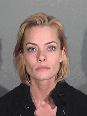 Jaime Pressly is seen in a booking photo at the Santa Monica Police Department on January 6, 2011 in Santa Monica, California. Pressly wa