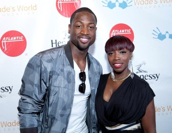 Dwyane Wade and Estelle
