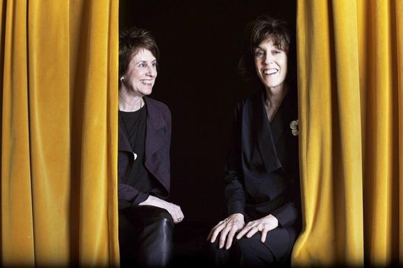 """Love, Loss, and What I Wore"" creators Delia and Nora Ephron at the Geffen Playhouse in Los Angeles."