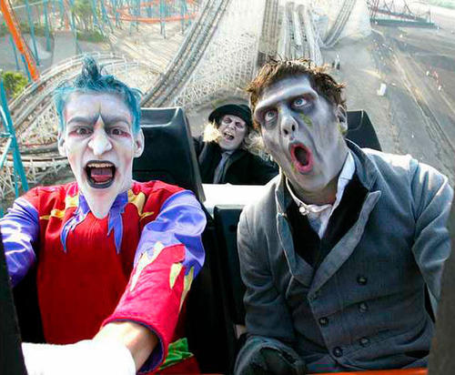 In keeping with a Halloween tradition, Six Flags Magic Mountain will run the Colossus wooden coaster backward during Fright Fest 2012.