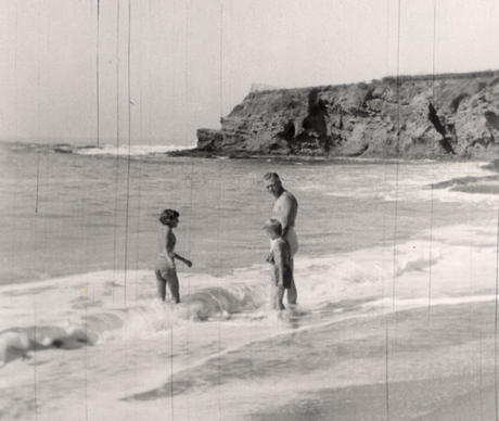 "Ted Danson visits the beach as a boy with his father. From the book ""Oceana: Our Endangered Oceans and What We Can Do To Save Them"" by Ted Danson with Michael D'Orso."