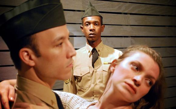 "Courtney Crouse, Evan Martin and Harmony France in ""Violet."""