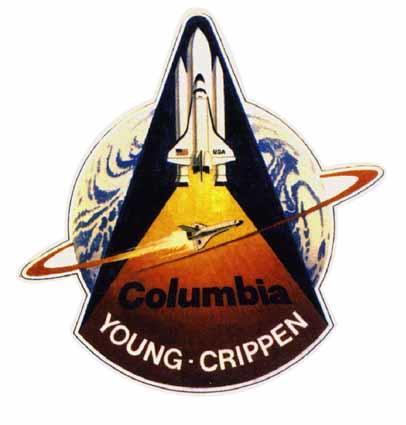 "<li> STS-1 -- Columbia mission No. 1 (1st shuttle program mission overall) <li> April 1-14, 1981 <li> Landing site: Edwards AFB, Calif. <li> Crew: John W. Young (5), Commander; Robert L. Crippen (1), Pilot  <li> Milestone: Shuttle program's first mission <li> <a target=""new"" href=""http://science.ksc.nasa.gov/shuttle/missions/sts-1/mission-sts-1.html"">More info from NASA</a>"