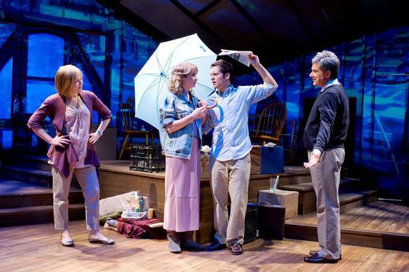 "Susie McMonagle, Jess Godwin, Tony Clarno and Gene Weygandt in ""Snapshots"" in Skokie."