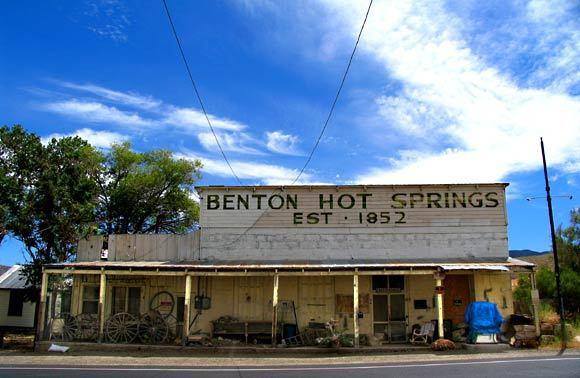 Benton Hot Springs is an old thermal water bathing center across the valley from Convict Lake.