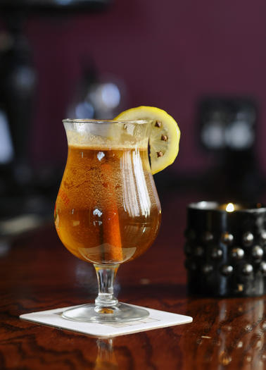 Stop by Annabel Lee Tavern on S. Clinton St. for a soul-warming sip of the Gold Bug.