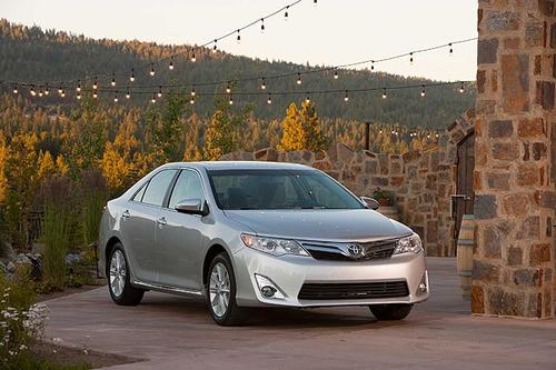 """The Camry wears all-new sheet metal while maintaining the length of the previous model. Creases and angles replace softer lines throughout the car. <br> <a href=""""http://www.latimes.com/business/autos/la-fi-autos-toyota-camry-review-20110929,0,864772.story""""><u>See full story</u></a>"""