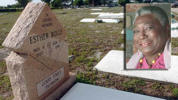 Esther Rolle burial site