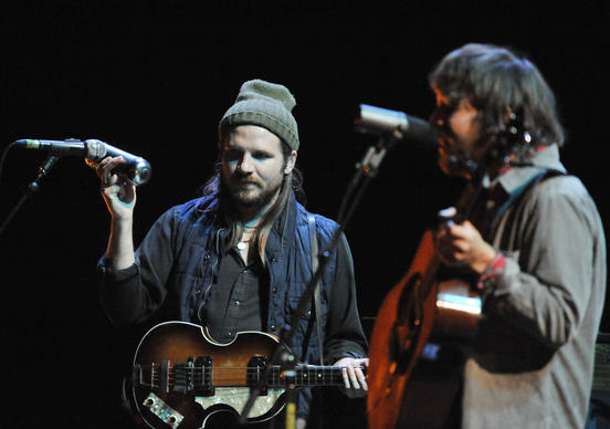 Fleet Foxes perform at the Chicago Theatre in Chicago, Friday, September 30, 2011.