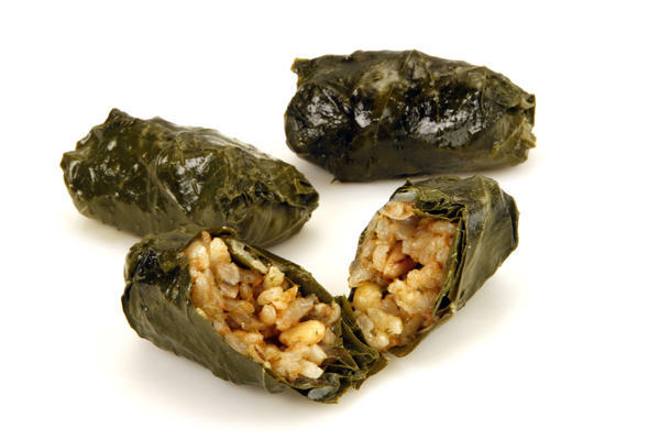 Aunt Mary's <i>yalanchi</i> (stuffed grape leaves)