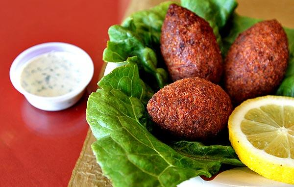 Kabab Grill's <i>kibbe</i> is stuffed with ground beef, pine nuts, onions and spices.