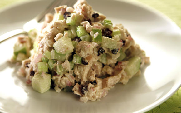 Lunch's green apple chicken salad