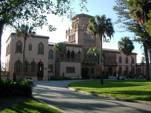 Ringling Circus Museum in Sarasota. Ca' d'Zan, the winter home of John and Mable lRingling, cost $1.5 million to build in the '20s, and $400,000 was spent to furnish its 22,000 square feet of living space.