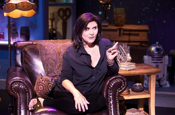 "Carrie Fisher's autobiographical show ""Wishful Drinking"" is now playing in the Loop."
