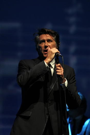 Bryan Ferry performs at the Civic Opera House on Tuesday.