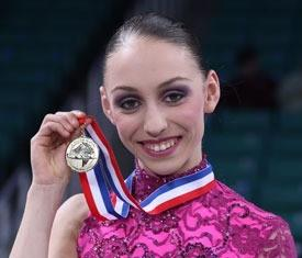 Courtney Hicks with her gold medal from the 2011 U.S. Figure Skating Championships. (U.S. Figure Skating photo)