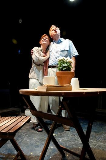 """Under the Blue Sky"" at Steep Theatre, with Jim Poole and Melissa Riemer."