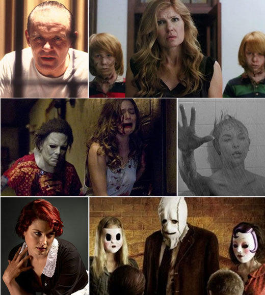 'American Horror Story's' movie homages from 'The Strangers' to Hannibal Lecter: American Horror Story piled on the scares in Season 1 and Season 2 is off to a bang as well, with many moments reminding us of horror movies passed. Whether you think they are paying homage or ripping off, these are the references weve caught so far.  -- Andrea Reiher, Zap2it