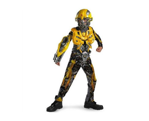 """Bumblebee plays the mechanical BFF of Shia Labeouf's character in """"Transformers""""  and boys seem to dig this tricked-out yellow hero. Prices online vary as much as the quality of the costumes. This """"deluxe classic"""" was listed on Amazon.com for $36.99.<br> <br> <a href=""""http://www.amazon.com/gp/redirect.html?ie=UTF8&location=http%3A%2F%2Fwww.amazon.com%2Fs%3Fie%3DUTF8%26x%3D0%26ref_%3Dnb_sb_noss%26fsc%3D-1%26ih%3D7_4_1_1_0_0_1_0_0_1.49_65%26y%3D0%26field-keywords%3Dbumblebee%2520transformer%2520kids%2520halloween%2520costume%26url%3Dsearch-alias%253Daps&tag=tribuneintera-20&linkCode=ur2&camp=1789&creative=390957"""">Bumblebee from """"Transformers"""" Halloween Costumes on Amazon.com</a><img src=""""https://www.assoc-amazon.com/e/ir?t=tribuneintera-20&l=ur2&o=1"""" width=""""1"""" height=""""1"""" border=""""0"""" alt="""""""" style=""""border:none !important; margin:0px !important;"""" />"""