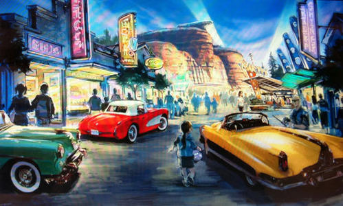 The origin of Carland began with Cruise Street, a neon-lit streetscape set between 1955 to 1965 when American popular culture was dominated by rock 'n' roll, car hops and hot rods.