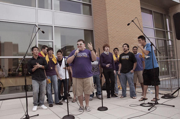 Jason and Palumbo and the rest of The Mama's Boys at their performance during UMBC's Homecoming 2011.