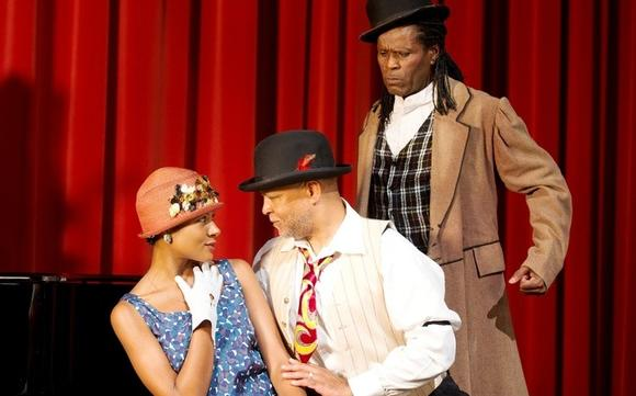 "Allison Russell, Sule Greg Wilson and Reggio McLaughlin in ""Keep a Song in Your Soul"" at the Old Town School."