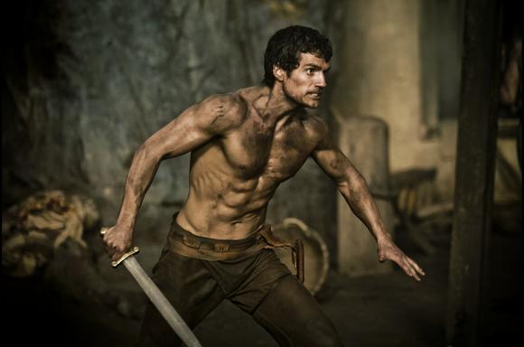 "Buff and ready: Henry Cavill in ""Immortals"""