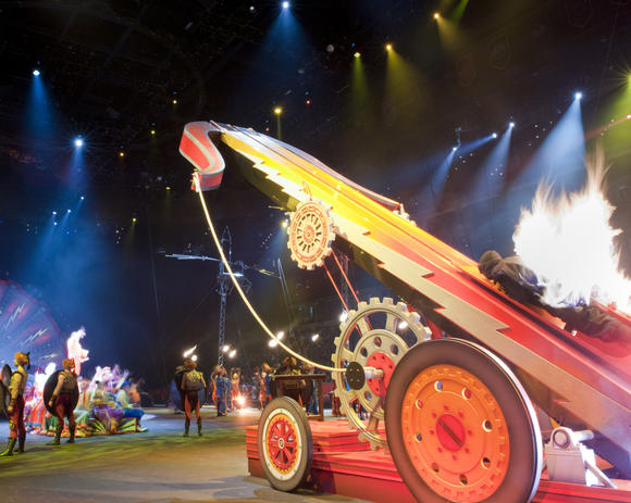 Brian Miser is The Human Fuse at the Ringling Bros. and Barnum & Bailey Circus, now playing in Ros