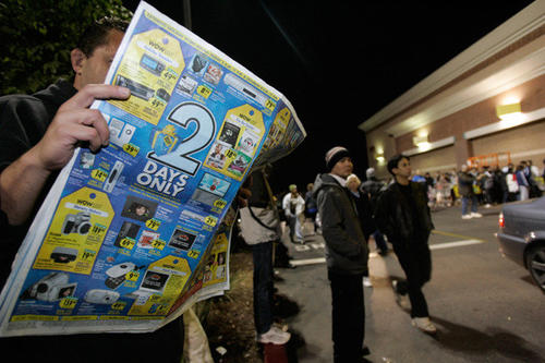 There's a reason the Thanksgiving Day newspaper is the fattest newspaper of the year. Advertisers annually stuff this paper with coupons and circulars advertising their best sales. You can increase your savings with online coupons. Just make sure they can be used in combination with in-store sales or newspaper coupons.