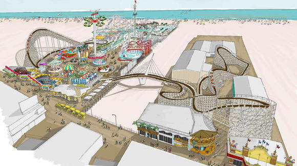 New wooden coaster at Morey's Piers